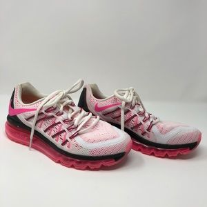 Nike AirMax electric pink and white running shoes
